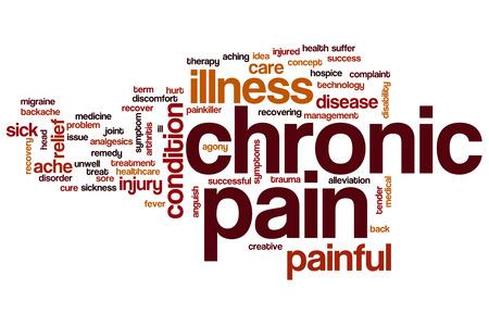 Chronic pain word cloud concept Foto de archivo
