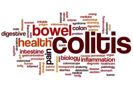 Colitis word cloud concept photo