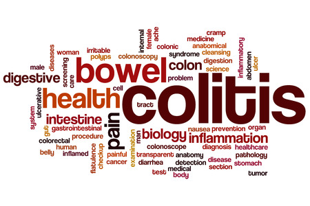 colonic: Colitis word cloud concept