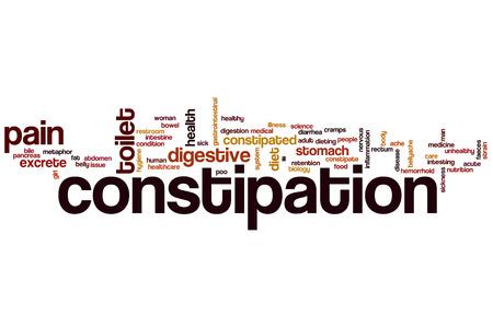 constipated: Estre�imiento concepto de nube de palabras