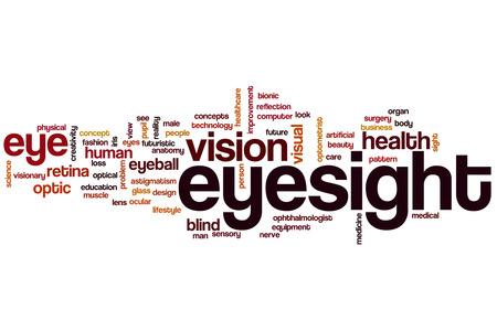 eyesight: Eyesight word cloud concept Stock Photo