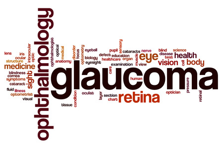 optic nerves: Glaucoma word cloud concept