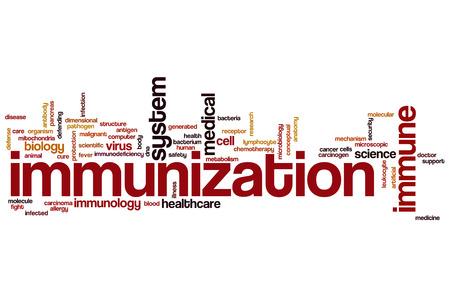 immunization: Immunization word cloud concept