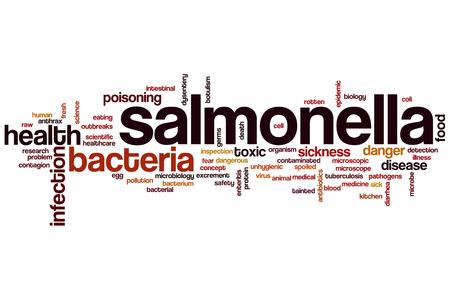 salmonella: Salmonella word cloud concept