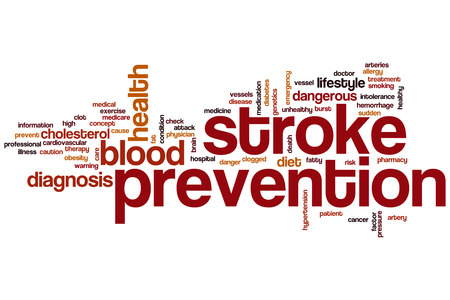 sudden death: Stroke prevention word cloud concept