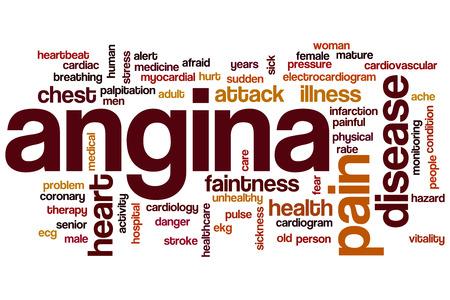 angina: Angina Wort Cloud-Konzept