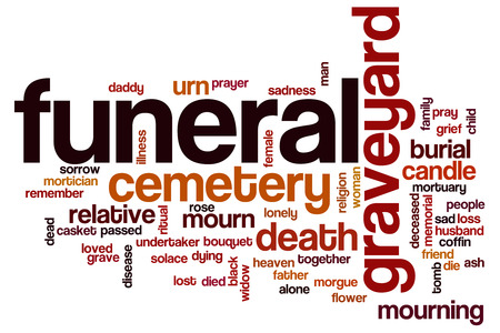 mortician: Funeral word cloud concept