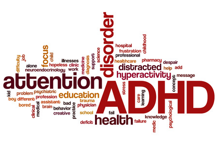 ADHD word cloud concept Stock Photo