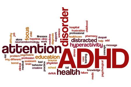 ADHD word cloud concept Фото со стока