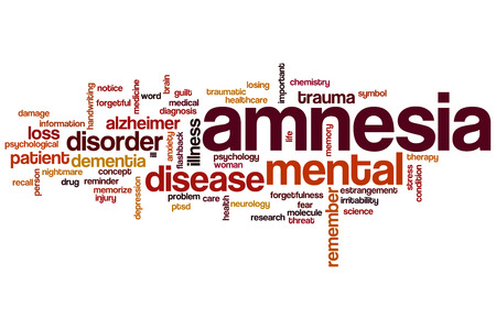 Amnesia word cloud concept Stock Photo