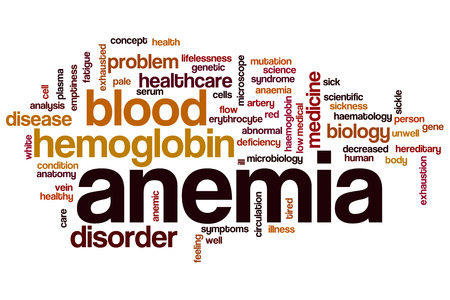 anemia: Anemia word cloud concept