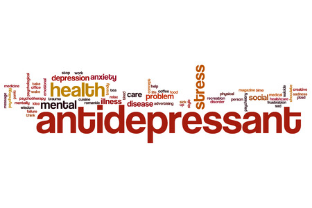 antidepressant: Antidepressant word cloud concept