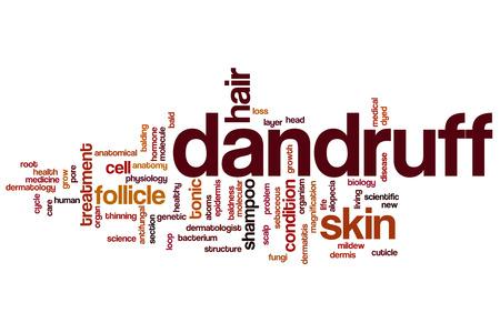 Dandruff word cloud concept photo