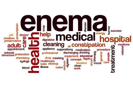 enema: Enema concepto de nube de palabras Foto de archivo
