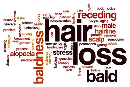 depilacion: La p�rdida de cabello concepto de nube de palabras Foto de archivo