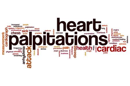 palpitations: Heart palpitations word cloud concept