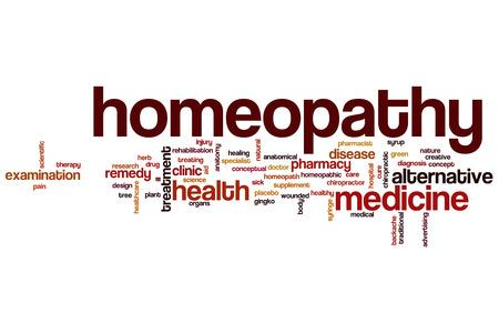 homeopatia: Palabra homeopat�a concepto de nube Foto de archivo