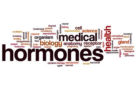 hormonas: Hormonas concepto de nube de palabras