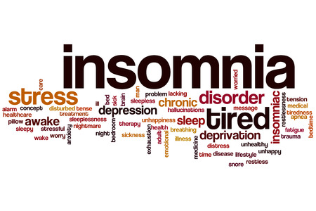 deprivation: Insomnia word cloud concept