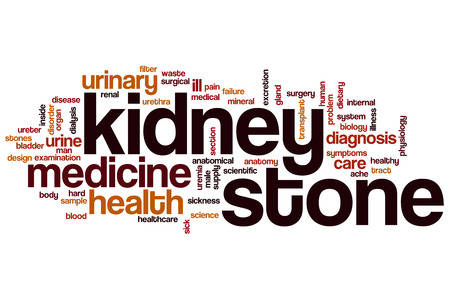 human bodies: Kidney stone word cloud concept