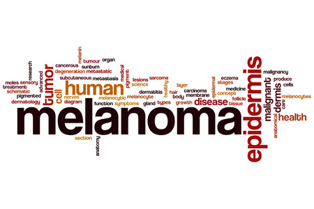 Melanoma word cloud concept photo
