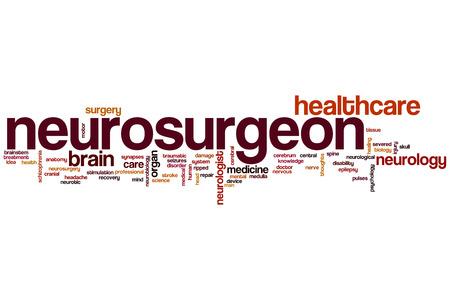 Neurosurgeon word cloud concept