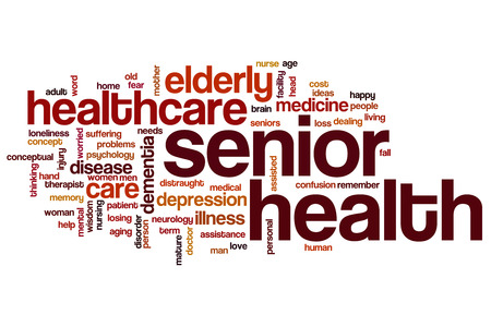 health facilities: Senior health word cloud concept