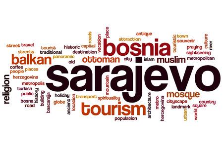 sarajevo: Sarajevo word cloud concept