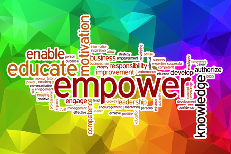 authorize: Empower word cloud concept with abstract background