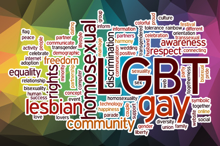 LGBT word cloud concept with abstract background Stock fotó