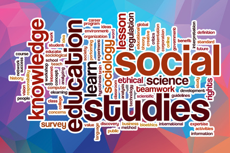 bioethics: Social studies word cloud concept with abstract background