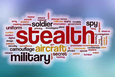 stealth: Stealth word cloud concept with abstract background