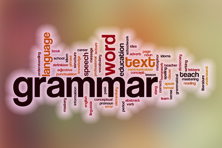 grammar: Grammar word cloud concept with abstract background