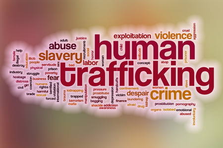 Human trafficking word cloud concept with abstract background Фото со стока - 37876774