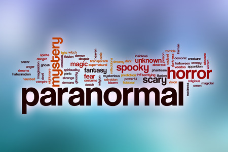 paranormal: Paranormal word cloud concept with abstract background