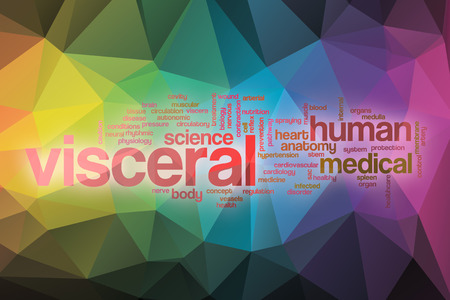 Visceral word cloud concept with abstract background photo