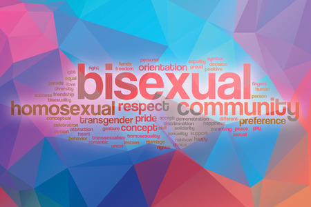 bisexual: Bisexual word cloud concept with abstract background