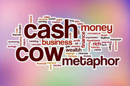 cash cow: Cash cow word cloud concept with abstract background