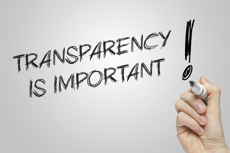 transparency: Hand writing transparency on grey background