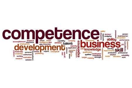 suitability: Competence word cloud Stock Photo