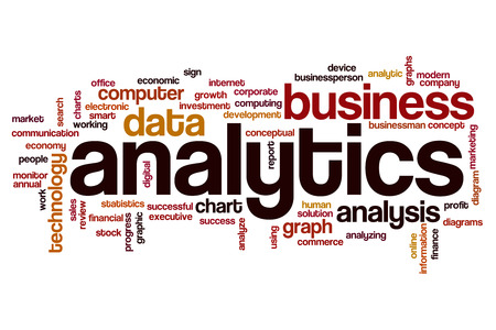 Analytics word cloud photo