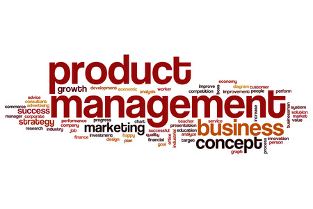 manager office: Product management word cloud Stock Photo
