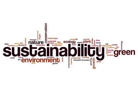 Sustainability word cloud Foto de archivo
