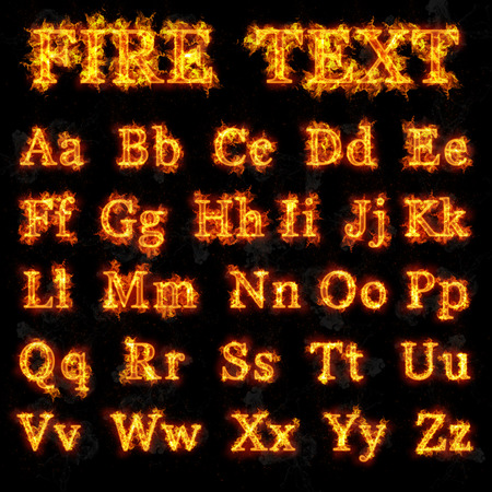 fire font: Fire font collection of all letters of alphabet