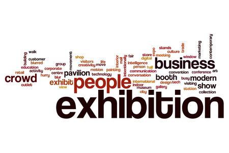 展覧会の単語の雲 写真素材