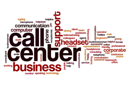 help center: Call center word cloud Stock Photo