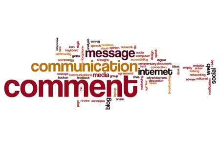 comment: Comment word cloud Stock Photo