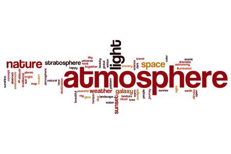 atmosfera: Atm�sfera nube de palabras Foto de archivo