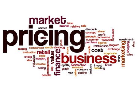 Pricing word cloud Stok Fotoğraf