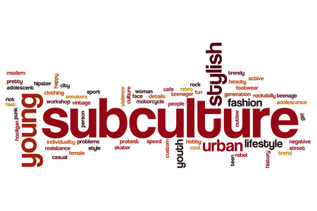 Subculture word cloud